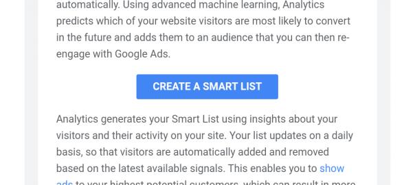 google smart list